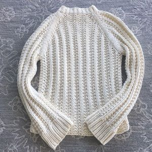 J Crew knit by hand sweater